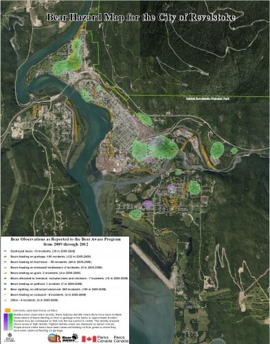 Bear Hazard Map 2009 - 2012